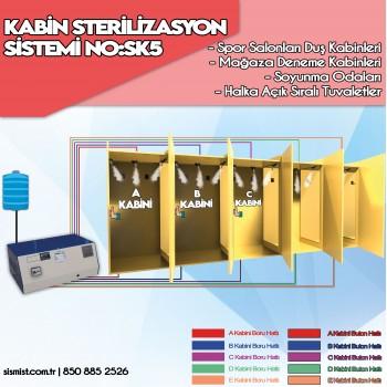 Kabin Sterilizasyon, Dezenfektan Püskürtme Sistemi 5 Kabin No:SK5