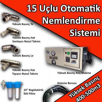 15 Uçlu Otomatik Nemlendirme Sistemi Yüksek Basınç 400-500m3 No:N5