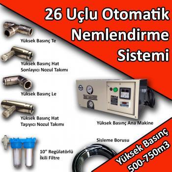 26 Uçlu Otomatik Nemlendirme Sistemi Yüksek Basınç 500-750m3 No:N6