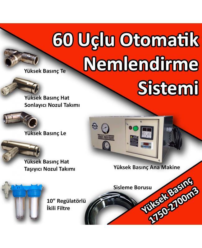 60 Uçlu Otomatik Nemlendirme Sistemi Yüksek Basınç 1750-2700m3 No:N9