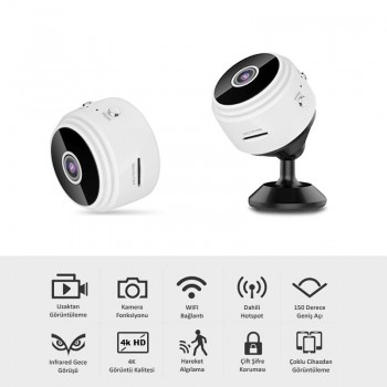 WiFi Mini Kamera Uzaktan İzleme A9V380