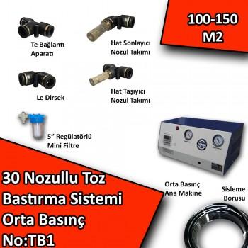 30 Uçlu Toz Bastırma Nemlendirme Sistemi Orta Basınç No:TB1