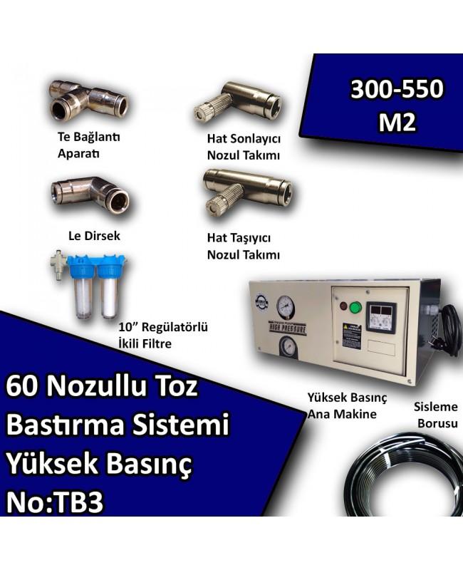 60 Uçlu Toz Bastırma Nemlendirme Sistemi Yüksek Basınç No:TB3