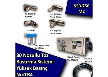 80 Uçlu Toz Bastırma Nemlendirme Sistemi Yüksek Basınç No:TB4